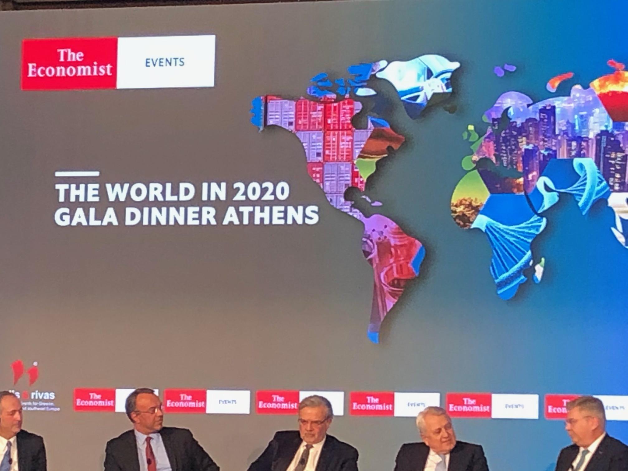 Αποτέλεσμα εικόνας για economist gala dinner athens, σταϊκούρας